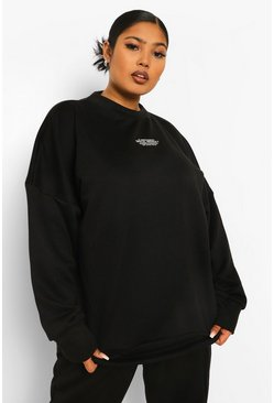 Black Plus Official Embroidered Oversized Sweat