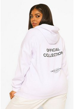 White Plus Official Printed Oversized Hoody