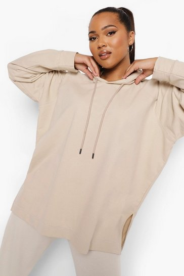 Oatmeal Plus Light Weight Loopback Oversized Hoody