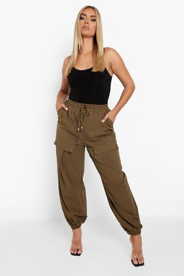 Khaki Plus Woven Cargo Jogger Trouser