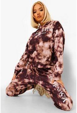 Black Ye Saint West Oversized Tie Dye Tracksuit
