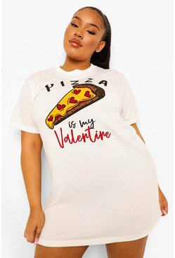 White Plus Pizza Nightie