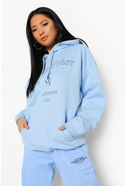 Pale blue Petite Ye Saint West Pastel Hoody