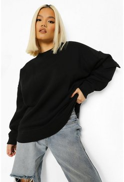 Black Petite Cargo Oversized Sweater