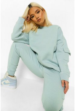 Light blue Petite Cargo Oversized Sweat
