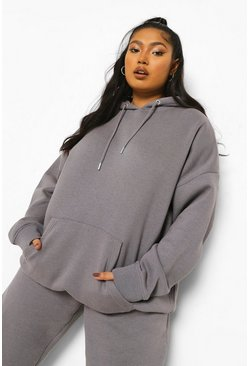 Charcoal grey Plus Overdye Oversized Hoodie