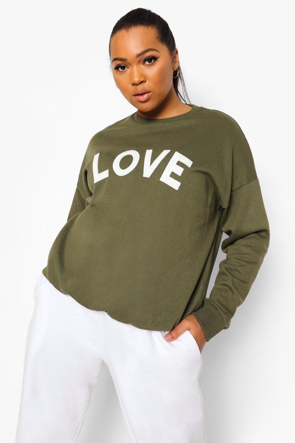 Plus Love Applique Sweat 13
