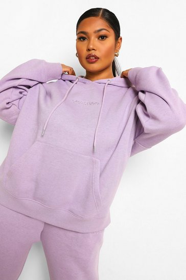 Lilac purple Plus Ofcl Embroidered Overdye Tracksuit