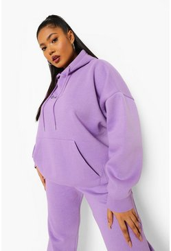 Purple Plus Woman Embroidered Hooded Tracksuit