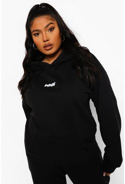 Black Plus Basic Women Hoodie