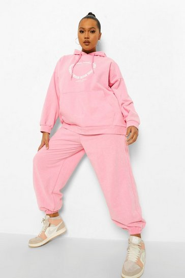 Pink Plus Ofcl Studio Washed Tracksuit