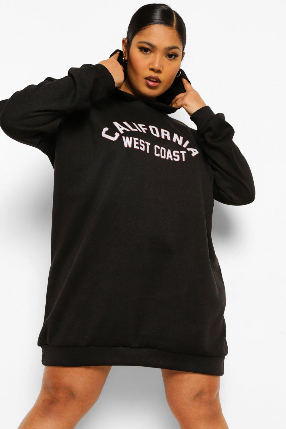 Plus California Hooded Sweat Dress 12