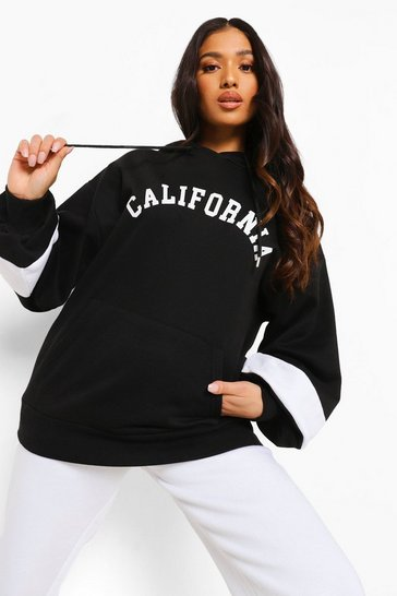 Black Petite California Oversized Hoodie