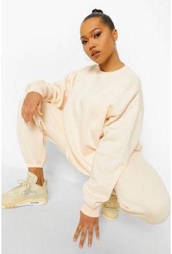 Blush pink Nude Plus Fleeceback Oversized Jogger