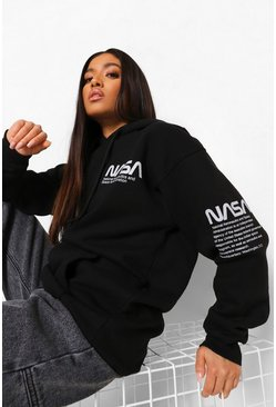 Black Petite Nasa Licensed Hoody