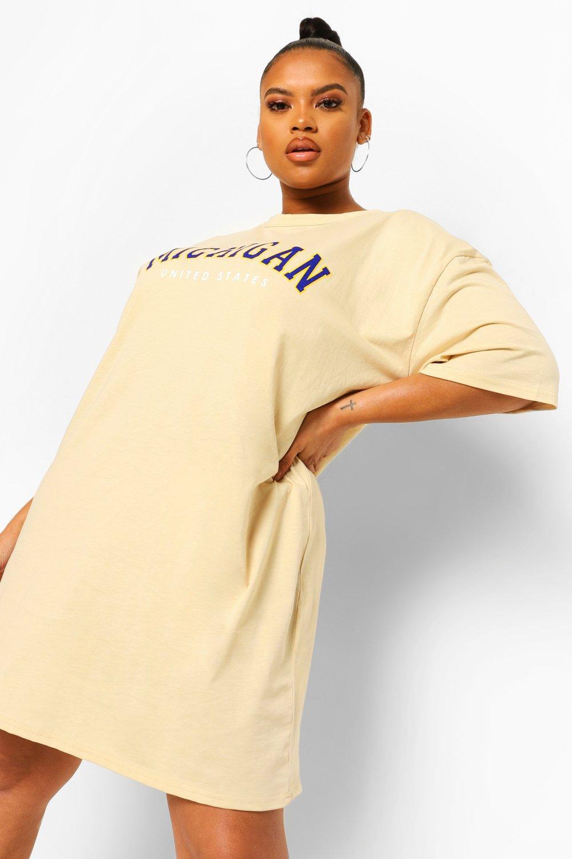 Plus Michigan Oversized T-shirt Dress 4