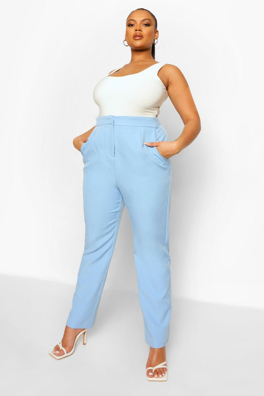 Plus Occasion Tailored High Waist Trouser 10