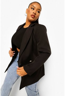 Black Plus Occasion Tailored Blazer