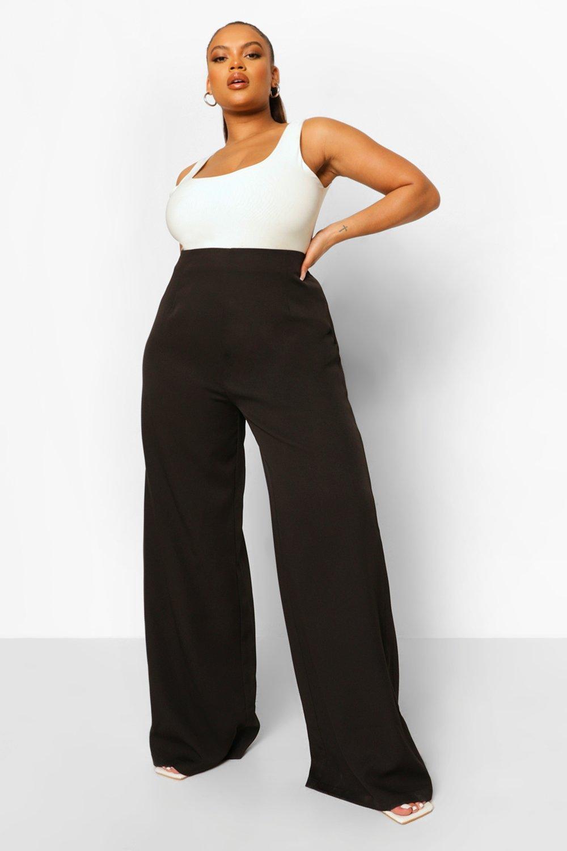 Plus Tailored Wide Leg Trouser 9