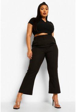 Black Plus Occasion Tailored Cropped Trouser