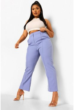 Lilac purple Plus Occasion Tailored Cropped Trouser