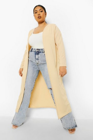 Sand beige Plus Rib Duster