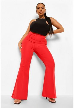 Red Plus Kick Flare Tailored Trouser