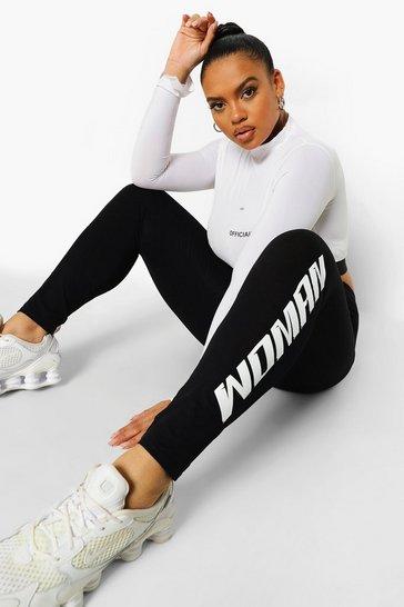 Black Plus Woman Print Leggings