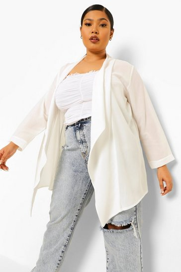 Ivory white Plus Waterfall Duster
