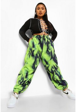 Green Plus Tie Dye Oversized Jogger