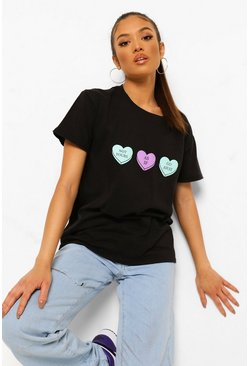 Camiseta con eslogan Not Yours Petite , Negro