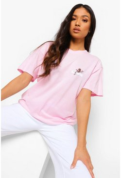 Light pink pink Petite Be Mine Cupid Pocket T-shirt