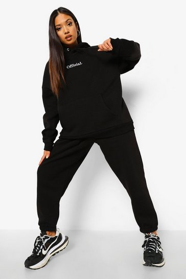 Black Petite Official Embroidered Jogger