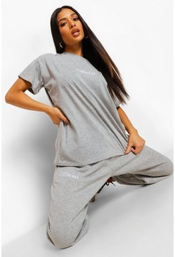 Petite - Jogging Official, Grey marl gris