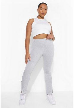 Grey marl grey Plus Ruched Split Legging