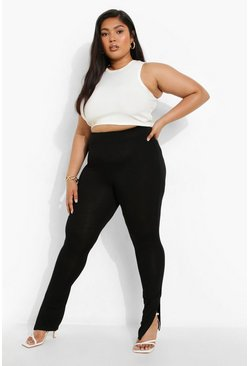 Black Plus Side Split Legging