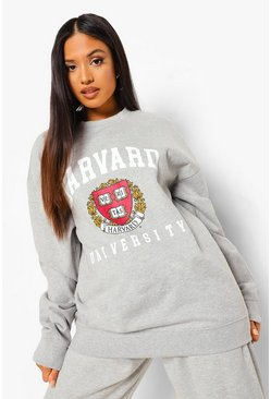 סלע אפור Grey Petite Harvard Licensed Sweat