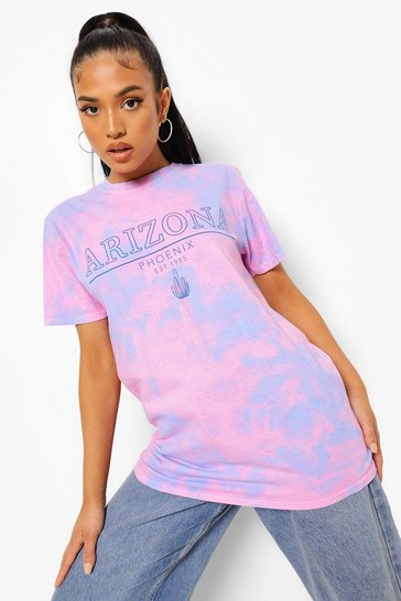 Multi Petite Arizona Tie Dye Printed T-shirt