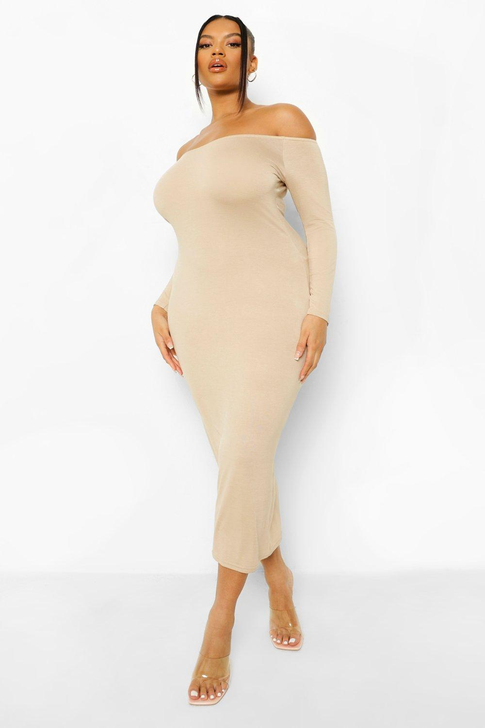 Plus Off The Shoulder Midaxi Dress 12