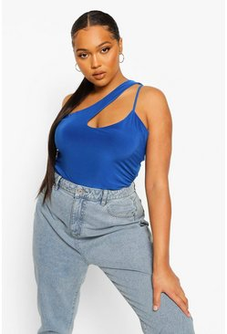Blue Plus Asymmetric Bodysuit