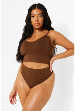 Chestnut brown Plus Seamfree Thong
