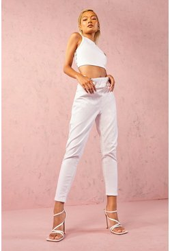 Petite White Denim Jegging