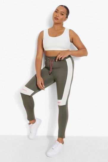 Khaki Plus Ofcl Body Contouring Active Leggings