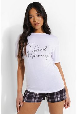 Black svart Petite - Good Morning Pyjamas med shorts