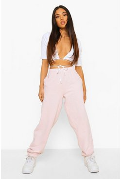 Petite Oversized Overdyed Jogger, Light pink rose
