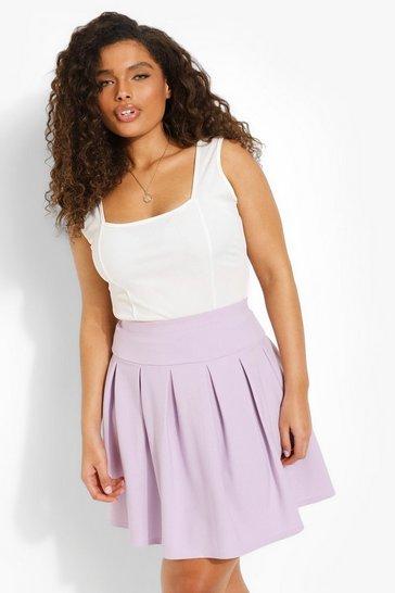 Lilac purple Plus Tennis Skirt