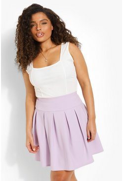 Lilac purple Plus Tennis Skirt