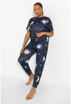 Navy Plus Celestial Pj Legging Set
