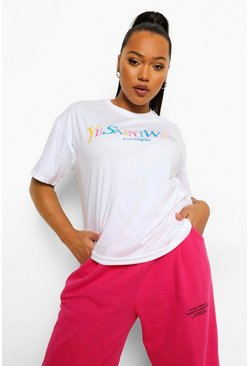 White Plus Ye Saint West Rainbow T-shirt