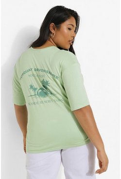 Blue Plus Torquay Back Print T-shirt